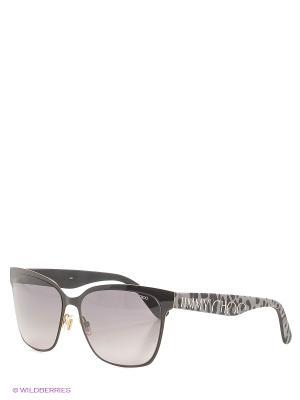 Солнцезащитные очки JIMMY CHOO. Цвет: черный, серый