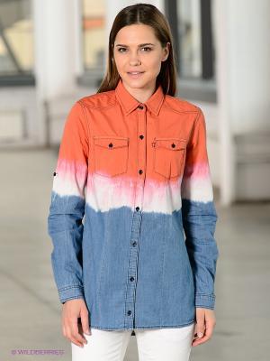 Рубашка F5. Цвет: оранжевый