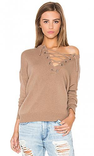Свитер со шнуровкой dylan 360 Sweater. Цвет: коричневый