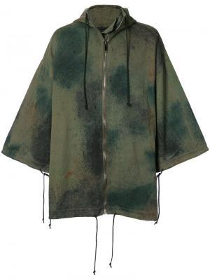Камуфляжное пальто Toogood. Цвет: зелёный