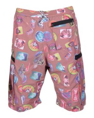 Пляжные брюки и шорты JOHN GALLIANO BEACHWEAR. Цвет: пастельно-розовый