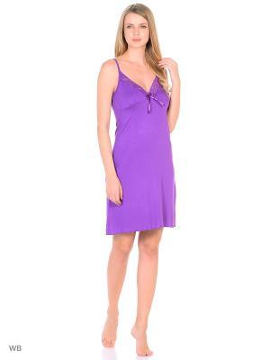 Ночная сорочка КВК. Цвет: фиолетовый