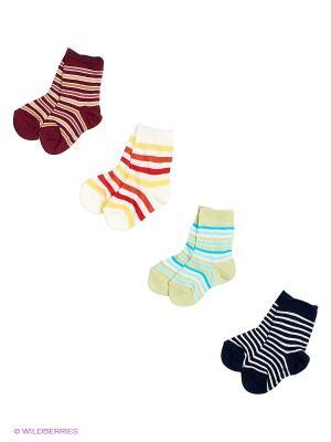Носки, 4 пары Malerba. Цвет: молочный, черный, коричневый