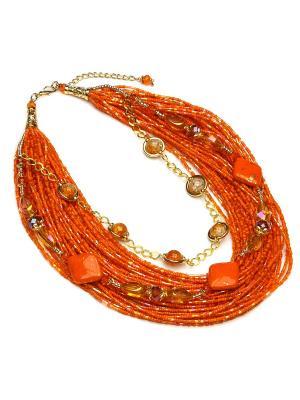 Ожерелье FOXTROT. Цвет: оранжевый