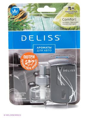 Автомобильный ароматизатор, комплект Deliss. Цвет: черный