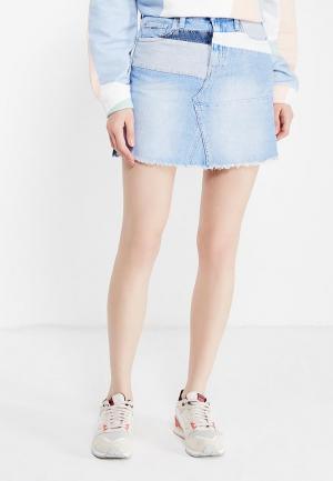 Юбка джинсовая Pepe Jeans. Цвет: голубой