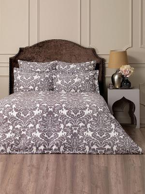 Комплект постельного белья Дамаск TOGAS. Цвет: темно-серый