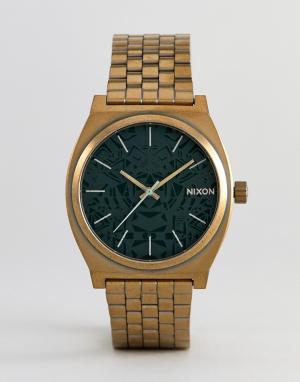 Nixon Золотистые наручные часы A045 Time Teller. Цвет: золотой