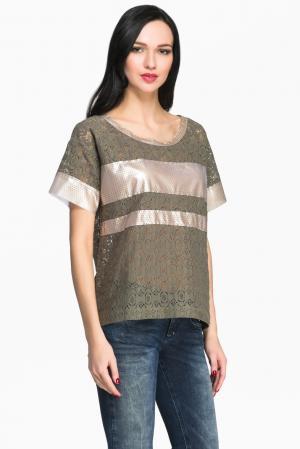 Je Talene Кружевная блуза 144381 T'alene. Цвет: зеленый