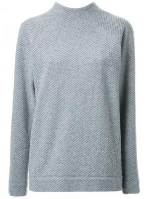 Блузка с воротником-стойкой Fad Three. Цвет: серый