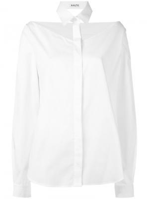 Рубашка с вырезом Aalto. Цвет: белый