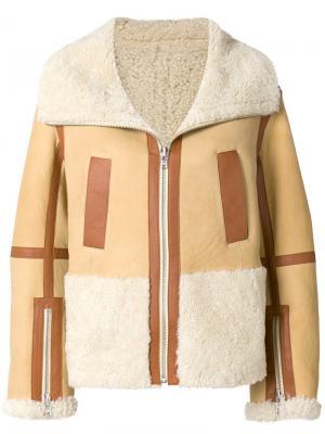 Свободная куртка-авиатор на молнии Courrèges. Цвет: коричневый