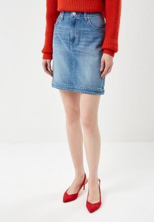 Юбка джинсовая Lee. Цвет: голубой