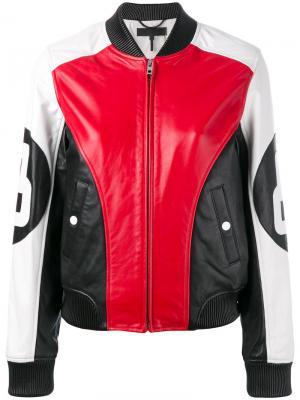 Байкерская куртка со вставками Rag & Bone. Цвет: красный