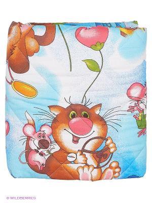 Одеяло-покрывало Letto для детской кроватки SP-03 110*140см.. Цвет: синий