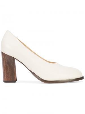 Туфли на широком каблуке Co. Цвет: белый
