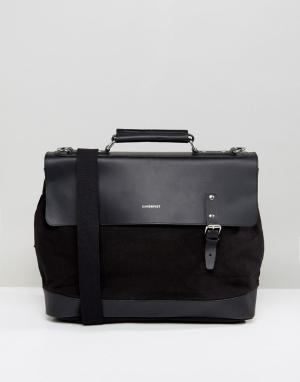 Sandqvist Черный рюкзак Jones. Цвет: черный