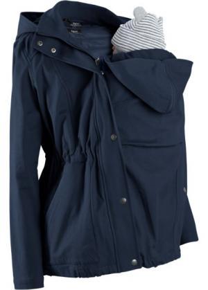 Для будущих мам: куртка со съемным жилетом и вставкой малыша (темно-синий) bonprix. Цвет: темно-синий