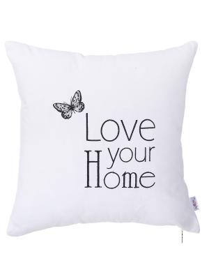Декоративная наволочка Love yore home Apolena. Цвет: сиреневый