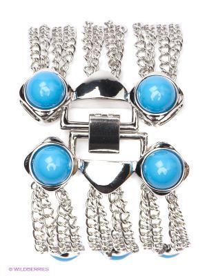 Браслет Art Silver. Цвет: серебристый, голубой