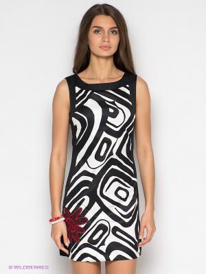 Платье Desigual. Цвет: черный, белый