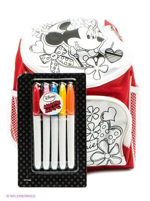 Роспись рюкзака Минни Маус Disney. Цвет: белый, красный