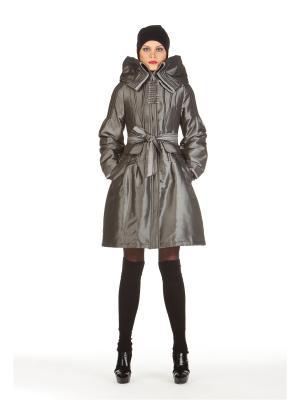 Демисезонное пальто BCVS makelove. Цвет: серебристый