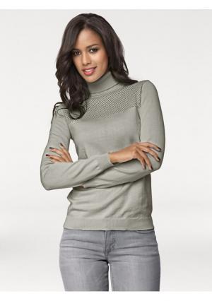Пуловер PATRIZIA DINI. Цвет: нежно-зеленый, розовый, серый меланжевый, телесный, черный