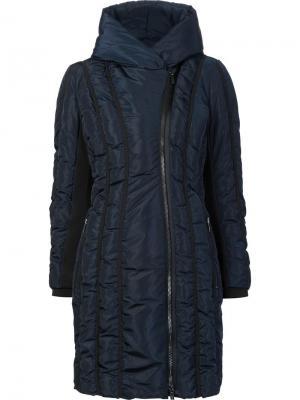 Пуховое пальто Leah Zac Posen. Цвет: синий