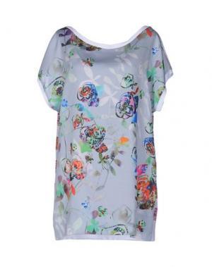 Блузка TRE CINQUE SETTE. Цвет: серый