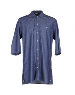 Джинсовая рубашка BONSAI. Цвет: синий