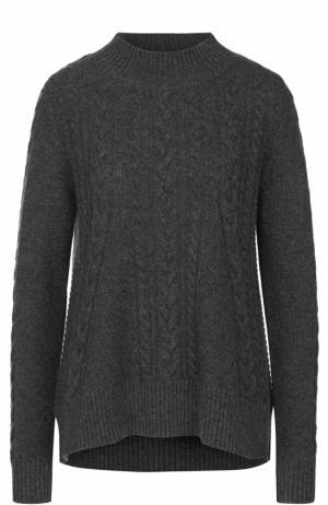 Кашемировый пуловер фактурной вязки FTC. Цвет: серый