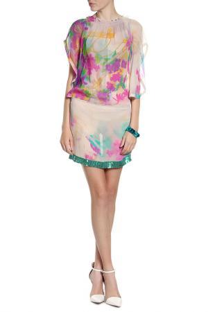 Платье Patrizia Pepe. Цвет: розовый