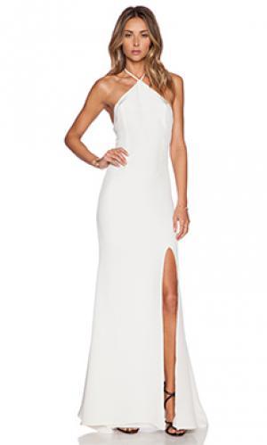 Макси платье OLCAY GULSEN. Цвет: белый