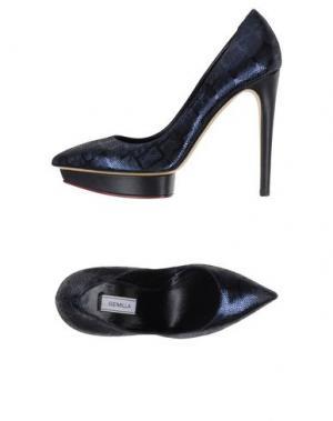 Туфли SEMILLA. Цвет: темно-синий