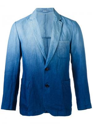 Блейзер с градиентным эффектом Blue Japan. Цвет: синий
