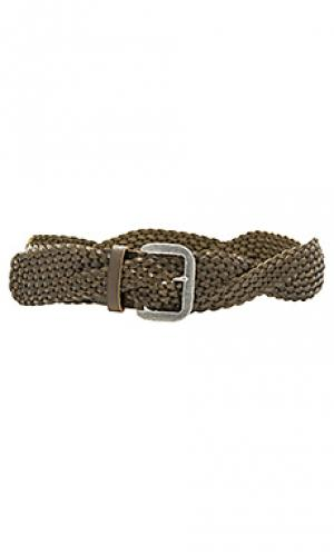 Twist braid belt Linea Pelle. Цвет: оливковый