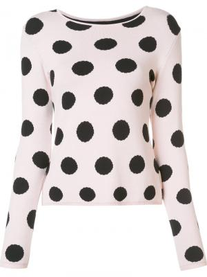 Polka dot jumper Natasha Zinko. Цвет: розовый и фиолетовый
