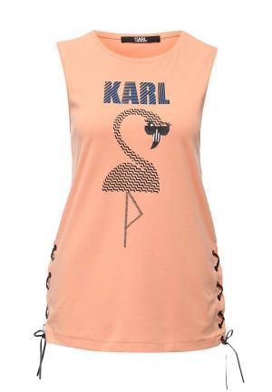 Майка Karl Lagerfeld. Цвет: оранжевый