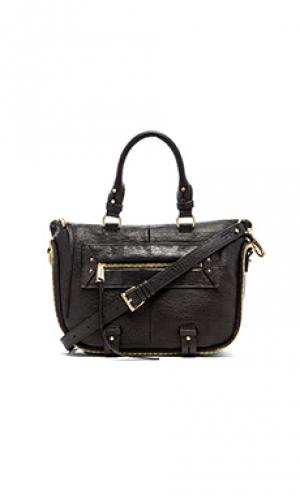 Мини-сумка сетчел rise above she + lo. Цвет: черный