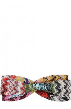 Вязаная повязка из вискозы Missoni. Цвет: разноцветный