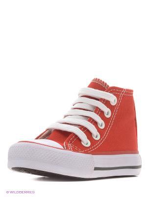 Кеды 4U. Цвет: красный