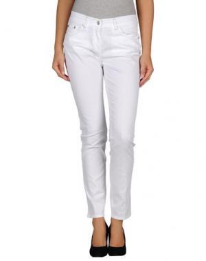 Повседневные брюки JEANS & POLO. Цвет: белый