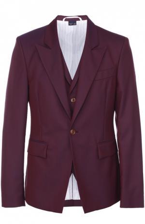 Шерстяной однобортный пиджак Vivienne Westwood. Цвет: фиолетовый
