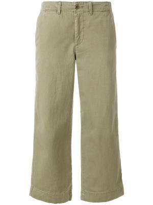 Укороченные широкие брюки Polo Ralph Lauren. Цвет: телесный