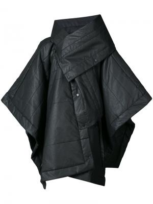 Asymmetric windbreaker coat Barbara I Gongini. Цвет: чёрный