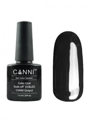 Гель лак №161 CANNI. Цвет: темно-серый