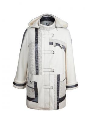 Пальто KR. Цвет: серебристый, молочный