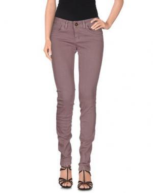 Джинсовые брюки YES LONDON. Цвет: светло-коричневый
