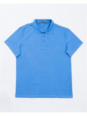 Футболка-поло Mark Formelle. Цвет: голубой
